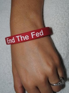 End The Fed wristband